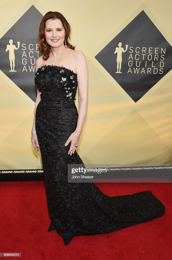 Actor Geena Davis attends the 24th Annual Screen Actors Guild Awards at The Shrine Auditorium on January 21, 2018 in Los Angeles, California.