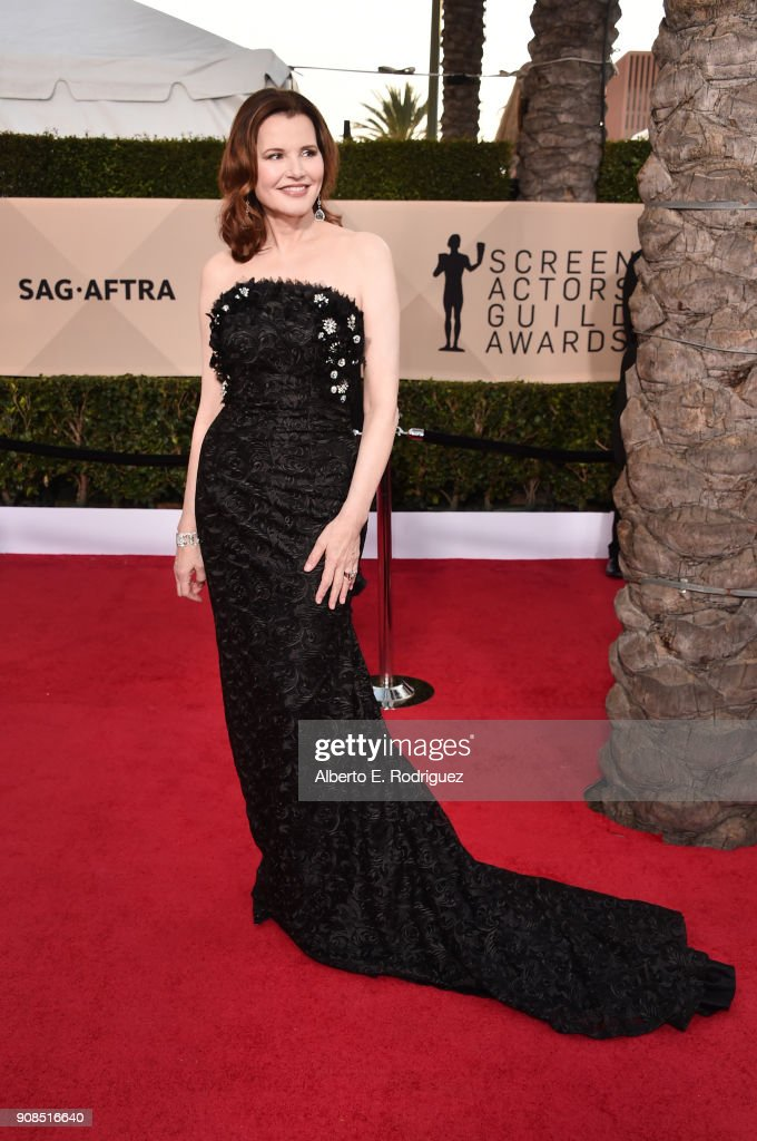 Actor Geena Davis attends the 24th Annual Screen Actors Guild Awards at The Shrine Auditorium on January 21, 2018 in Los Angeles, California. 27522_006