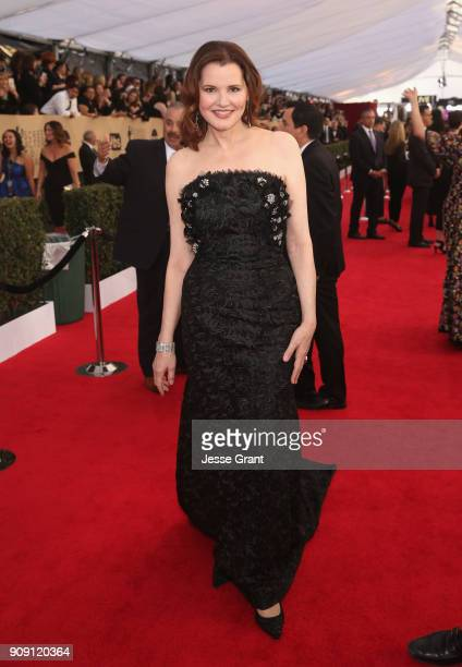 Actor Geena Davis attends the 24th Annual Screen Actors Guild Awards at The Shrine Auditorium on January 21 2018 in Los Angeles California