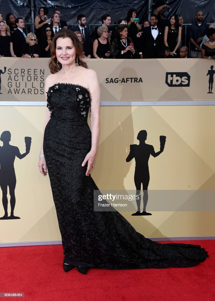 Actor Geena Davis attends the 24th Annual Screen ActorsGuild Awards at The Shrine Auditorium on January 21, 2018 in Los Angeles, California.