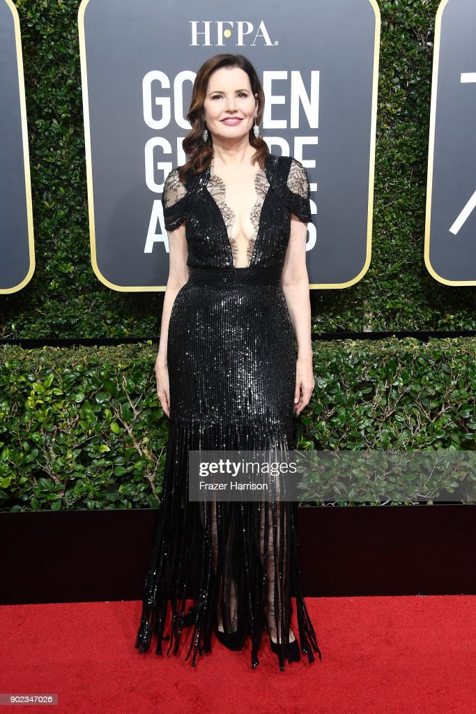 Actor Geena Davis attends The 75th Annual Golden Globe Awards at The Beverly Hilton Hotel on January 7, 2018 in Beverly Hills, California.