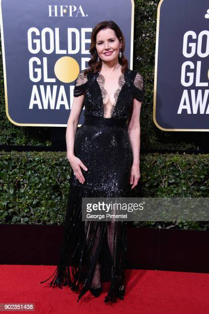 Actor Geena Davis attends The 75th Annual Golden Globe Awards at The Beverly Hilton Hotel on January 7 2018 in Beverly Hills California
