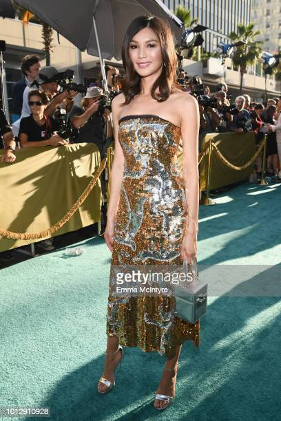 Actor Gemma Chan arrives at Warner Bros Pictures' Crazy Rich Asians Premiere at TCL Chinese Theatre IMAX on August 7 2018 in Hollywood California
