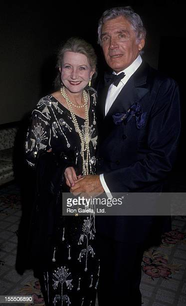 Actor Gene Barry and wife Betty Barry attend St Jude's Children's Hospital Benefit Gala on September 5 1987 at the Century Plaza Hotel in Century...