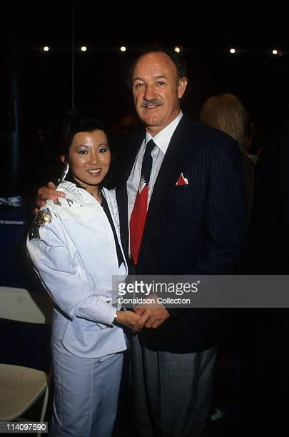 Actor Gene Hackman and wife Betsy Arakawa pose for a portrait in 1986 in Los Angeles California