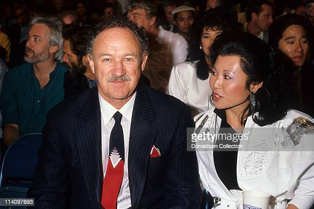 Actor Gene Hackman and wife Betsy Arakawa pose for a portrait in 1986 in Los Angeles, California.