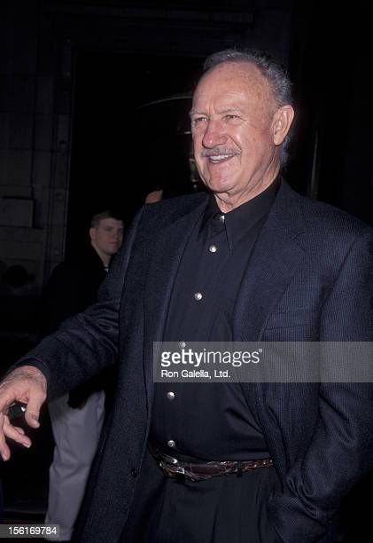 Actor Gene Hackman attends the world premiere of 'The Royal Tennenbaums' on December 6 2001 at El Capitan Theater in Hollywood California