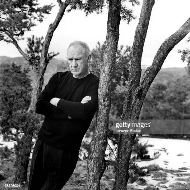 Actor Gene Hackman is photographed for Vanity Fair Magazine on January 7 2004 at home in Santa Fe New Mexico PUBLISHED IN JONATHAN BECKER 30 YEARS AT...