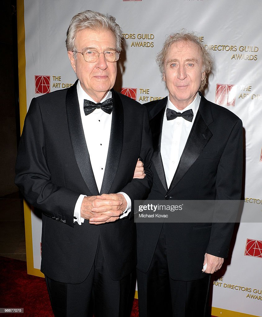 Actor Gene Wilder (R) and Lifetime Achievement Honoree Production Designer Terence Marsh (L) attend the 14th Annual Art Directors Guild Awards at The Beverly Hilton Hotel on February 13, 2010 in Beverly Hills, California.