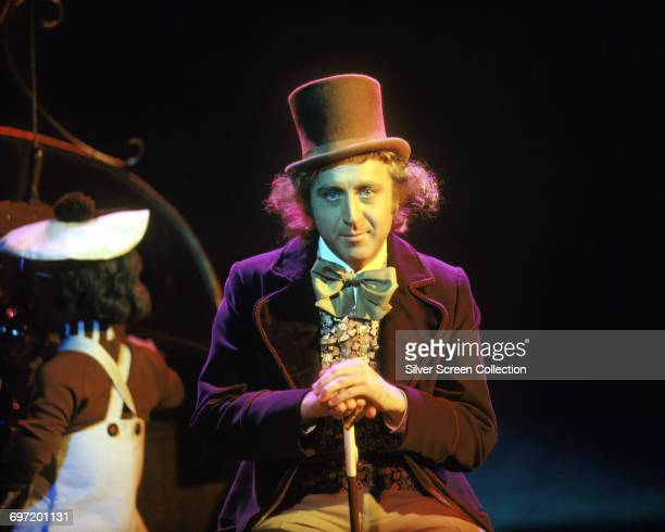 Actor Gene Wilder as Willy Wonka on the set of the film 'Willy Wonka the Chocolate Factory' based on the novel by Roald Dahl 1971