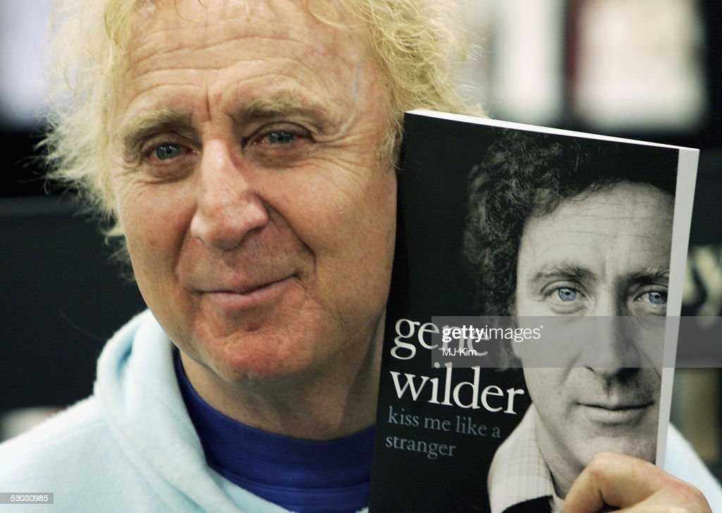 Actor Gene Wilder poses as he signs copies of his autobiography 'Kiss Me Like A Stranger', at Waterstone's, Oxford Street on June 7, 2005 in London, England. The memoirs give an insight into Wilder's failed love life, his experiences of working with stars such as Richard Pryor and Woody Allen, his fight with, and victory over, cancer, and his time in the UK studying acting at the Bristol Old Vic.