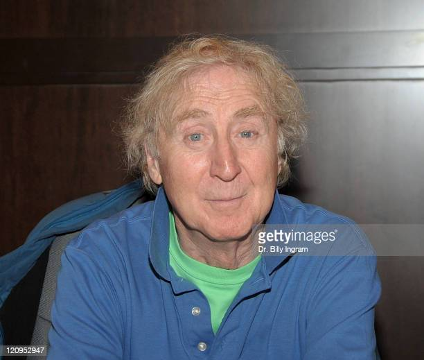 """Actor Gene Wilder signs his book """"What Is This Thing Called Love?"""" at Barnes & Noble bookstore at The Grove on April 5, 2010 in Los Angeles,..."""