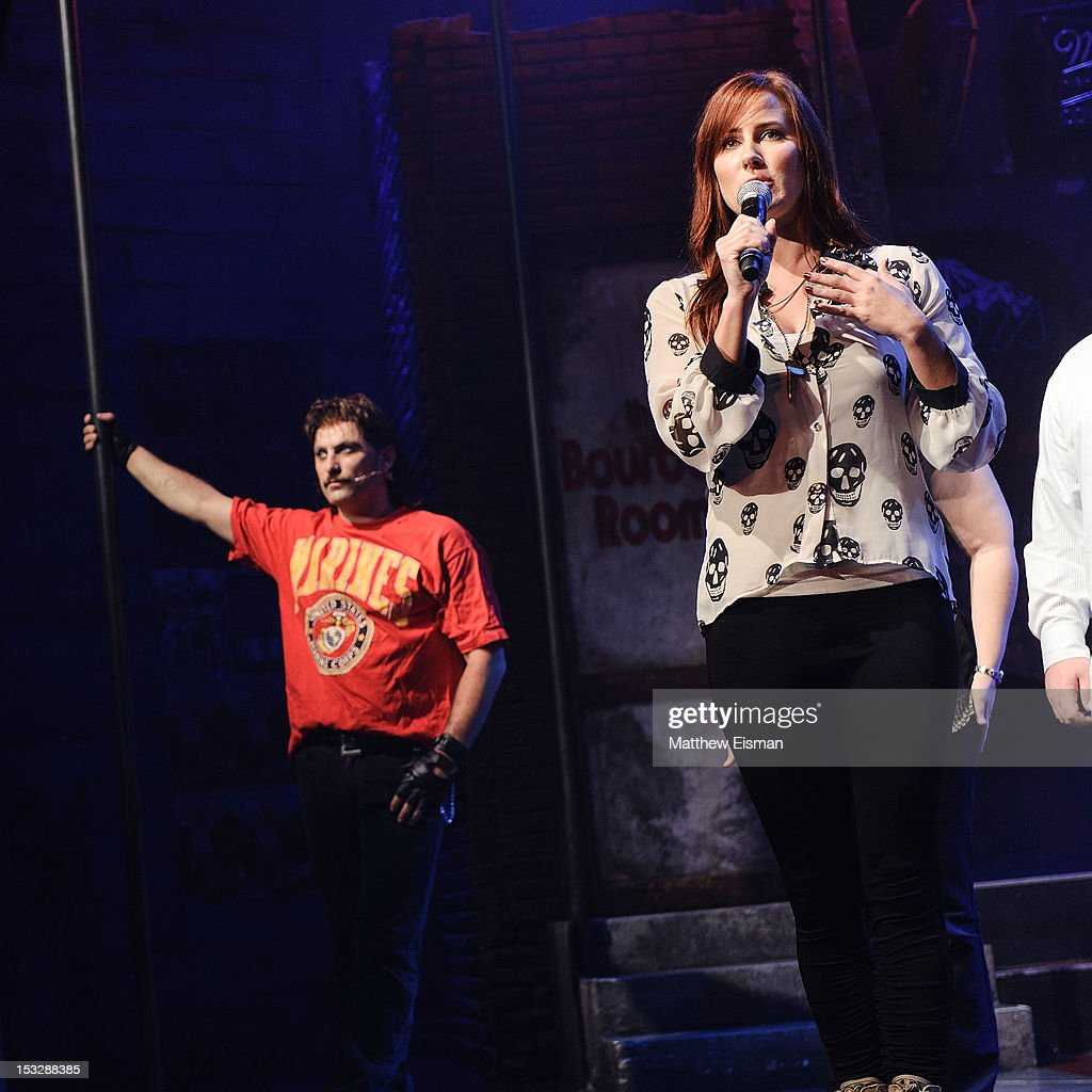 Actor Genson Blimline (L) and Meghan McDermott attend the 'Rock Of Ages' on Broadway Military Tribute Night at Helen Hayes Theatre on October 2, 2012 in New York City.
