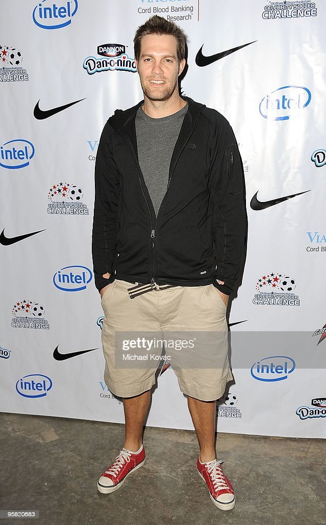 Actor Geoff Stults arrives at the 3rd Annual Mia Hamm & Nomar Garciaparra Celebrity Soccer Challenge at The Home Depot Center on January 16, 2010 in Carson, California.
