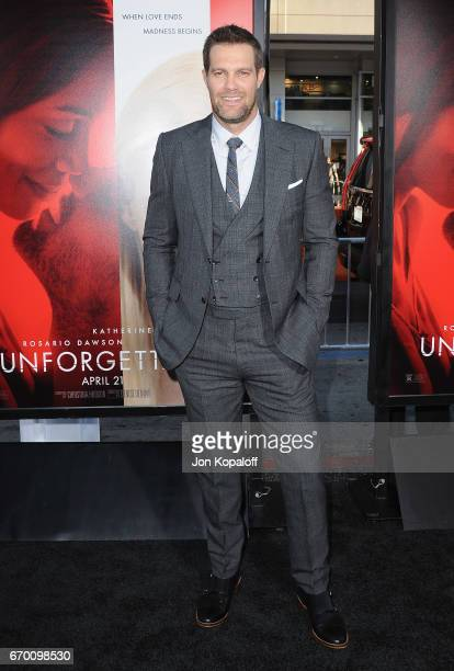 Actor Geoff Stults arrives at the Los Angeles Premiere 'Unforgettable' at TCL Chinese Theatre on April 18 2017 in Hollywood California