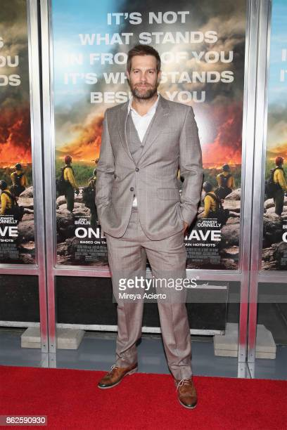 Actor Geoff Stults attends 'Only The Brave' New York screening at iPic Theater on October 17 2017 in New York City