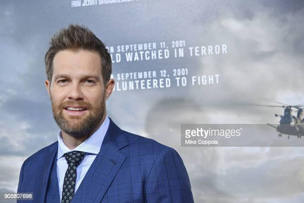 Actor Geoff Stults attends the '12 Strong' World Premiere at Jazz at Lincoln Center on January 16 2018 in New York City