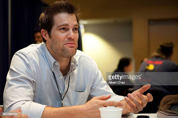 """Actor Geoff Stults attends the """"Happy Town"""" panel at the 2010 WonderCon - Day 2 at Moscone Center South on April 3, 2010 in San Francisco, California."""