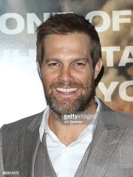 Actor Geoff Stults attends the 'Only The Brave' New York screening at iPic Theater on October 17 2017 in New York City