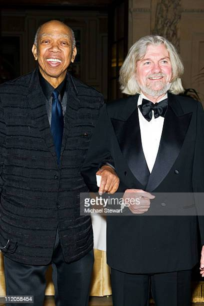 Actor Geoffrey Holder and Don Padgett attend the Ballet Hispanico 40th Anniversary Spring Gala at Manhattan Center Grand Ballroom on April 12 2011 in...