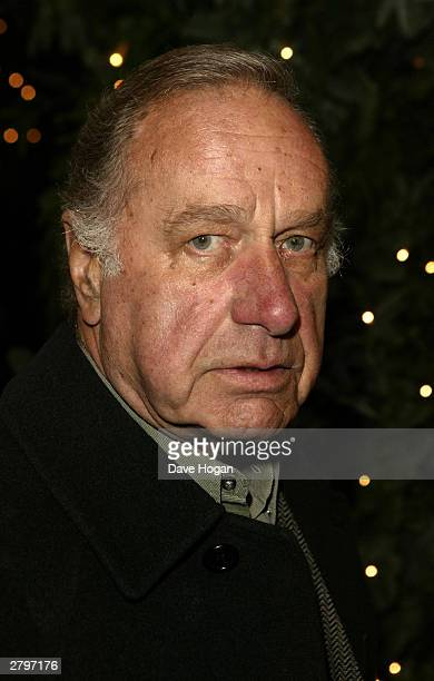 Actor Geoffrey Palmer arrives for the world premiere of Peter Pan at the Empire Leicester Square December 9 2003 in London England