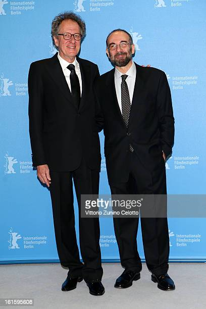 Actor Geoffrey Rush and director Giuseppe Tornatore attends the 'The Best Offer' Photocall during the 63rd Berlinale International Film Festival at...
