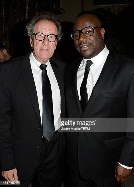 Actor Geoffrey Rush and director Steve McQueen attend the 3rd AACTA International Awards at Sunset Marquis Hotel Villas on January 10 2014 in West...
