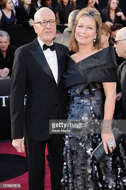 Actor Geoffrey Rush and wife Jane Menelaus arrive at the 83rd Annual Academy Awards held at the Kodak Theatre on February 27 2011 in Hollywood...
