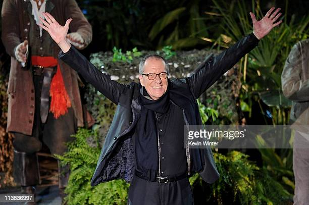 """Actor Geoffrey Rush arrives at premiere of Walt Disney Pictures' """"Pirates of the Caribbean: On Stranger Tides"""" held at Disneyland on May 7, 2011 in..."""