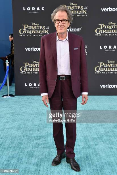 Actor Geoffrey Rush arrives at the premiere of Disney's 'Pirates of the Caribbean Dead Men Tell No Tales' at Dolby Theatre on May 18 2017 in...