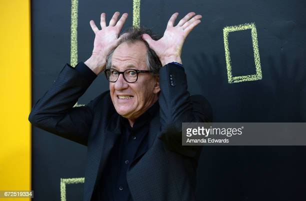 Actor Geoffrey Rush arrives at the premiere of National Geographic's Genius at the Fox Bruin Theater on April 24 2017 in Los Angeles California