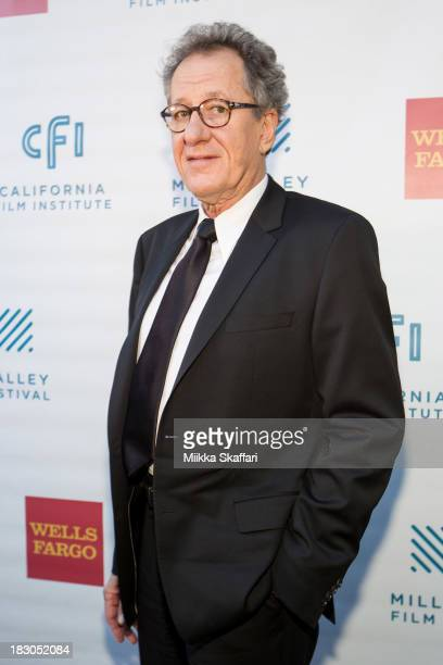 Actor Geoffrey Rush arrives to a prescreening reception on the opening night of Mill Valley Film Festival on October 3 2013 in Mill Valley California