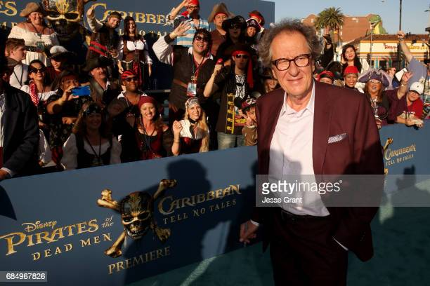 """Actor Geoffrey Rush at the Premiere of Disney's and Jerry Bruckheimer Films' """"Pirates of the Caribbean Dead Men Tell No Tales"""" at the Dolby Theatre..."""