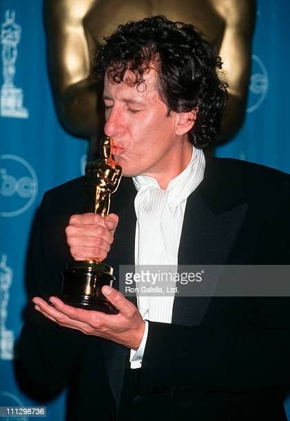 Actor Geoffrey Rush attends 69th Annual Academy Awards on March 24 1997 at the Shrine Auditorium in Los Angeles California