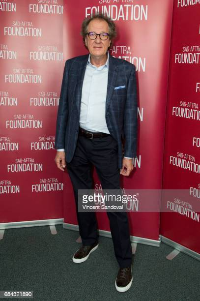 Actor Geoffrey Rush attends SAGAFTRA Foundation's Conversations with 'Genius' at SAGAFTRA Foundation Screening Room on May 17 2017 in Los Angeles...