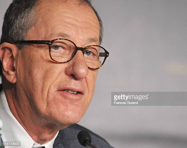 Actor Geoffrey Rush attends the 'Pirates of the Caribbean On Stranger Tides' press conference at the Palais des Festivals during the 64th Cannes Film...