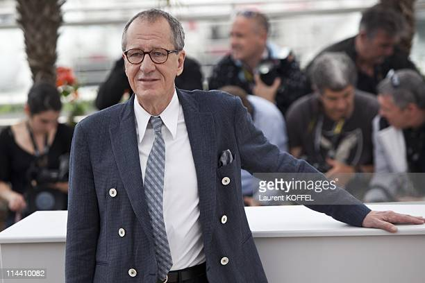 Actor Geoffrey Rush attends the 'Pirates of the Caribbean On Stranger Tides' Photocall during the 64th Annual Cannes Film Festival at Palais des...