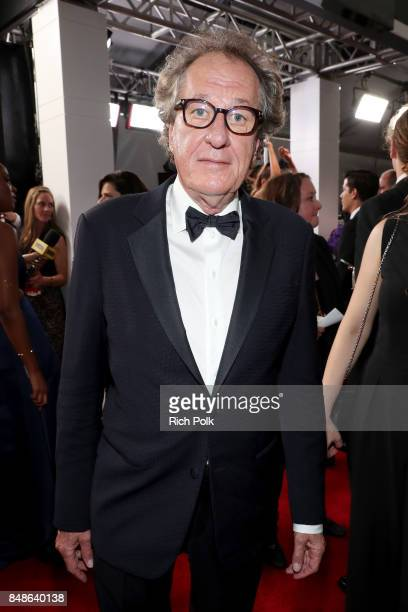 Actor Geoffrey Rush walks the red carpet during the 69th Annual Primetime Emmy Awards at Microsoft Theater on September 17 2017 in Los Angeles...