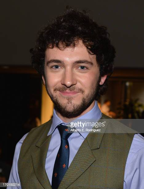 Actor George Blagden attends a reception for a screening and QA for The History Channel's 'Vikings' at Leonard H Goldenson Theatre on June 7 2013 in...