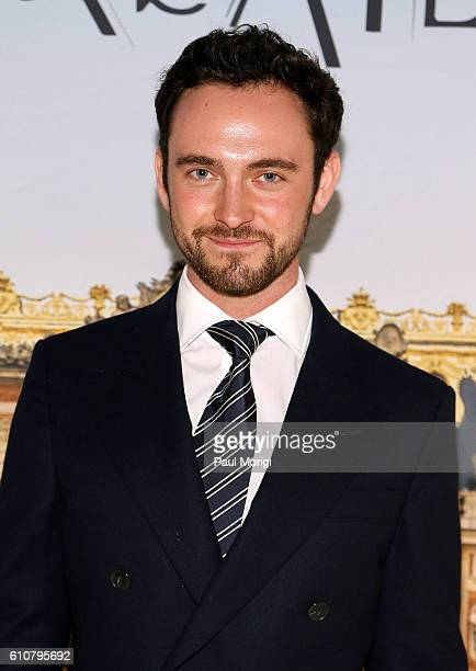 Actor George Blagden attends the premiere of Ovation TV's 'Versailles' at French Embassy on September 27 2016 in Washington DC