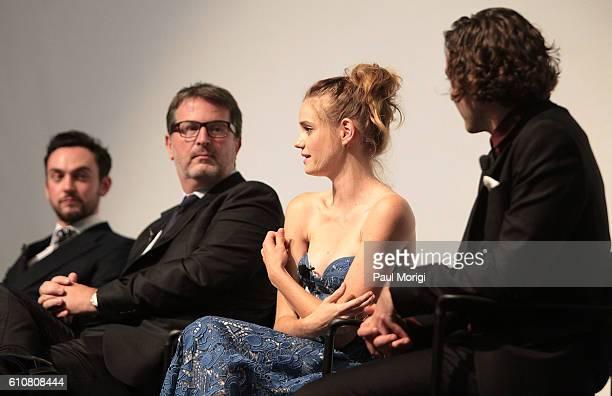 Actor George Blagden Cocreator/Executive Producer David Wolstencroft Actress Noemie Schmidt and actor Alexander Vlahos participate in a postscreening...