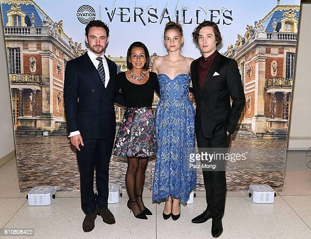 Actor George Blagden Liz Janneman EVP Network Strategy Ovation TV actress Noemie Schmidt and actor Alexander Vlahos attend the premiere of Ovation...