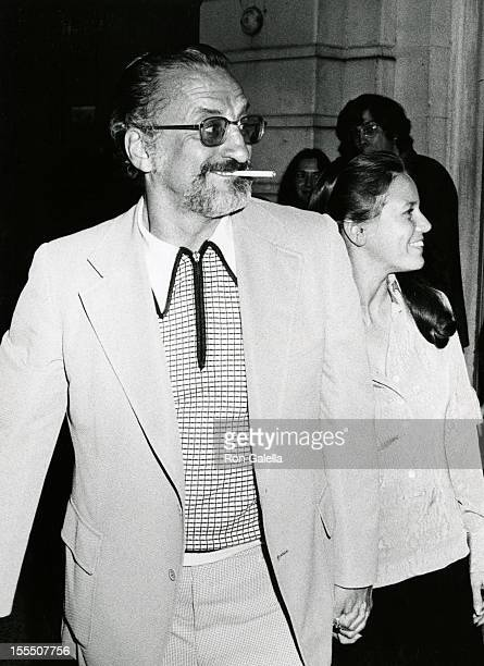 Actor George C Scott and actress Trish Van Devere attend Nicole Williamson Opening on June 26 1973 at the Eastside Playhouse in New York City