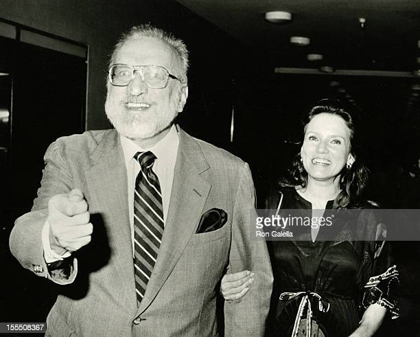 Actor George C Scott and actress Trish Van Devere attend the opening party for Design for Living on June 20 1984 at Luchow's Restaurant in New York...