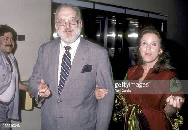 Actor George C Scott and wife actress Trish Van Devere attend the Design For Living Opening Night Performance on June 20 1984 at the Circle in the...