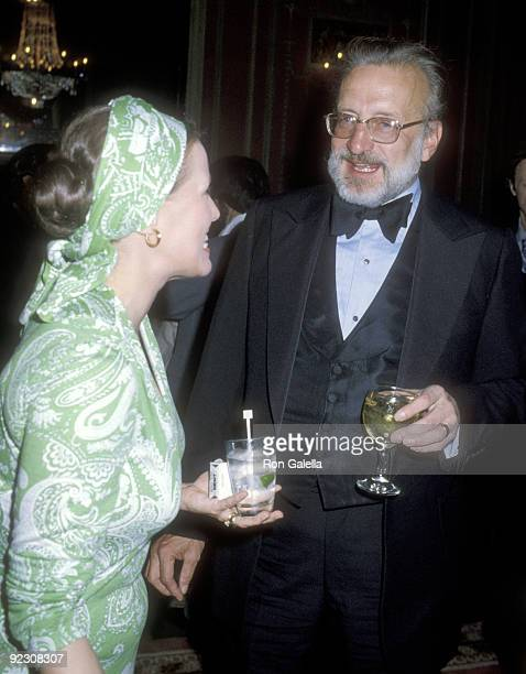 Actor George C Scott and wife actress Trish Van Devere attend the 1979 AllAmerican Golf Collegiate Awards Dinner on August 14 1979 at The...