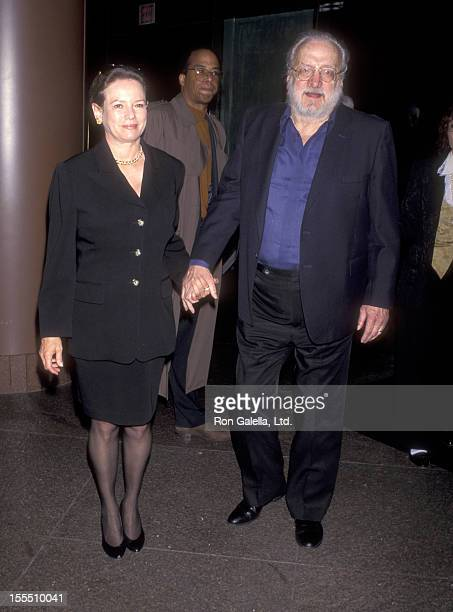 Actor George C Scott and wife Trish Van Devere attend the Screening of the HBO Original Movie Tyson on April 20 1995 at DGA Theatre in Los Angeles...