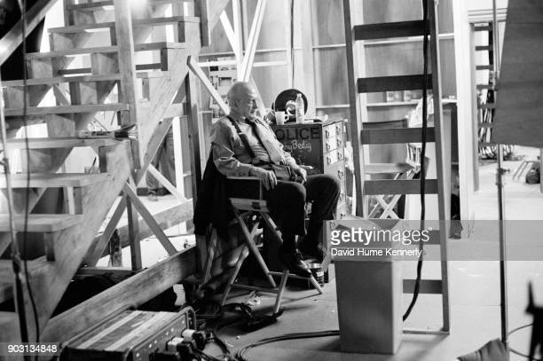 Actor George C Scott on the set of '12 Angry Men' a Showtime television production directed by William Friedkin March 5 1997 in Los Angeles...