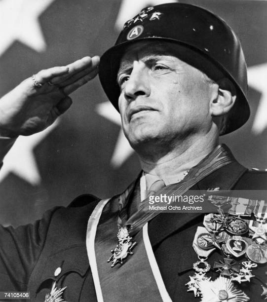 Actor George C Scott performs scene in Patton directed by Franklin J Schaffner Winner of eight Academy Awards