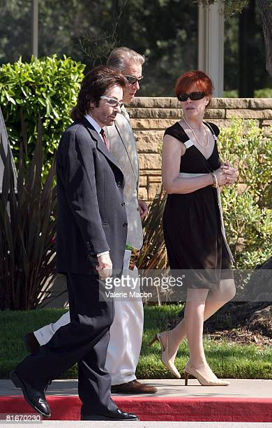 Actor George Chakiris leaves Cyd Charisse's Funeral at the Hillside Memorial Park June 22 2008 in Los Angeles California